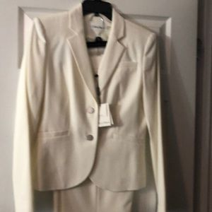 Calvin Klein winter white suit new 8